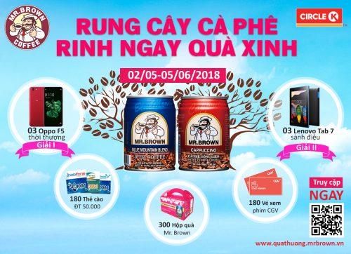 Chương trình trúng thưởng ``Rung cây cà phê - Rinh ngay quà xinh``
