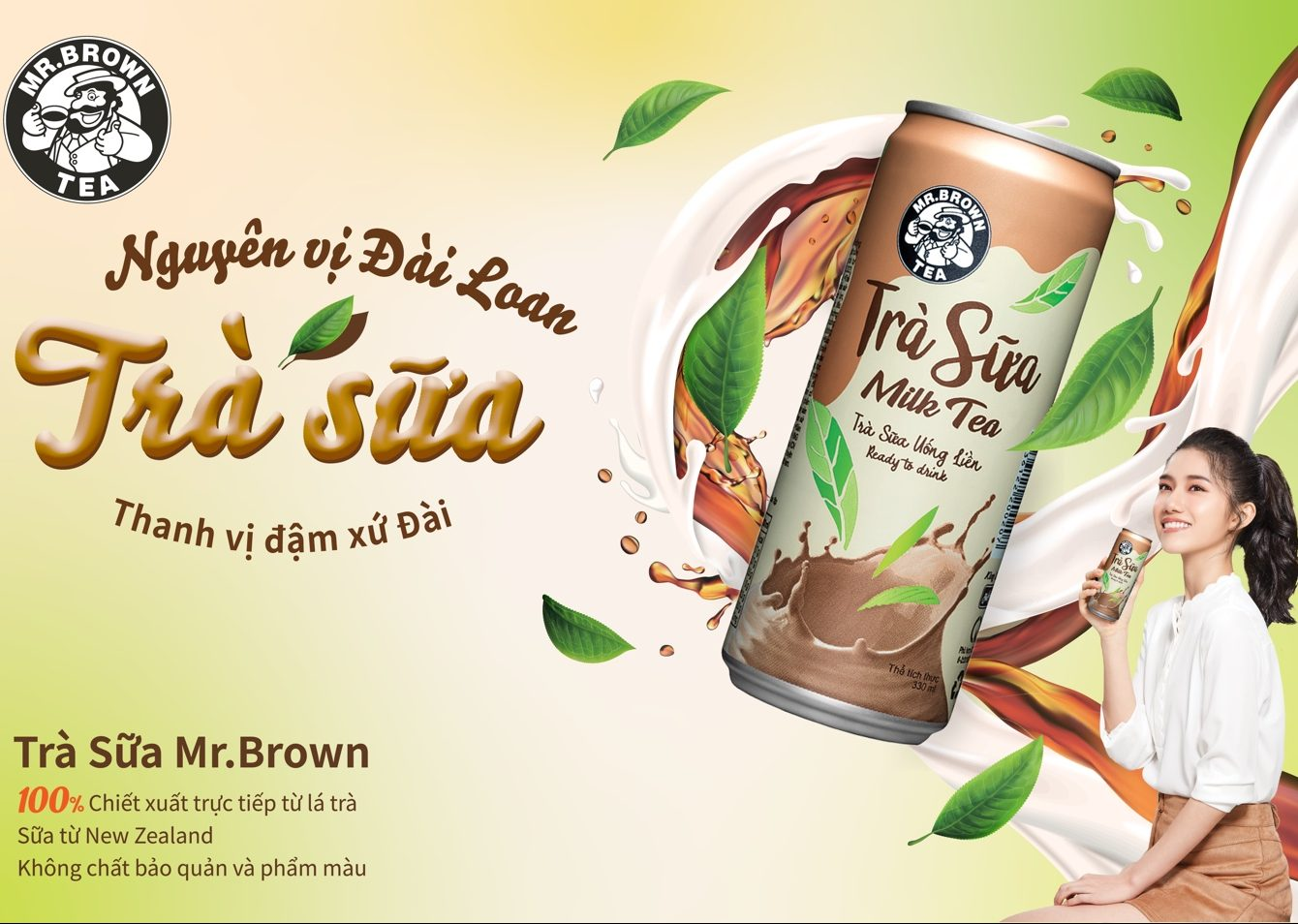 Giải mã cơn sốt mang tên ``Trà sữa đóng lon Mr.Brown``